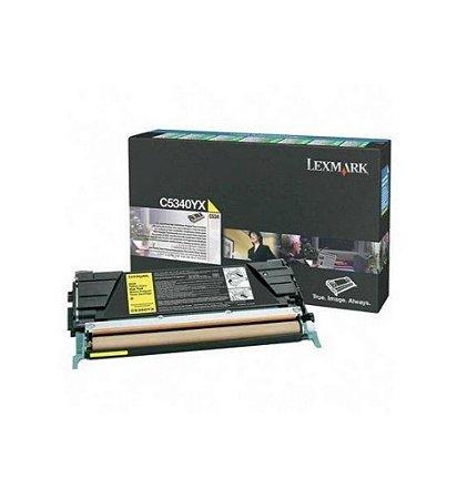 Toner Lexmark C534 C5340YX Original Amarelo