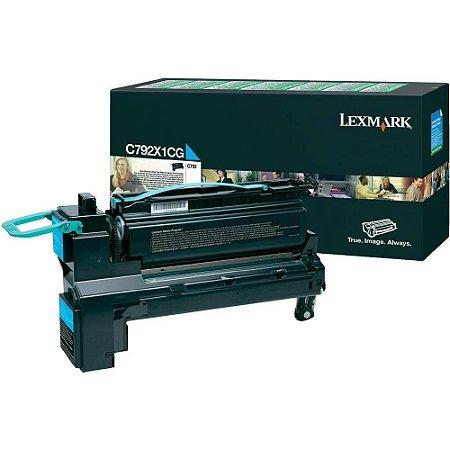 Toner Lexmark C792X1CG Cyan Original