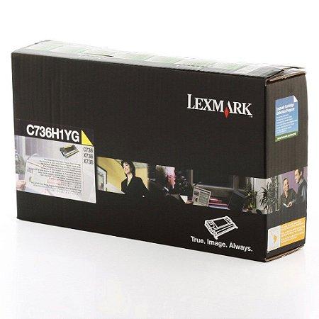 Toner Lexmark C736 C736H1YG C736dn Original