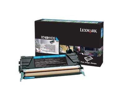 Toner Lexmark de Alto Rendimento X748 Ciano X748H1CG Original
