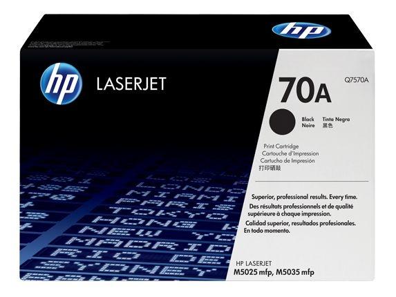 Cartucho de toner LaserJet preto HP 70A original(Q7570A)