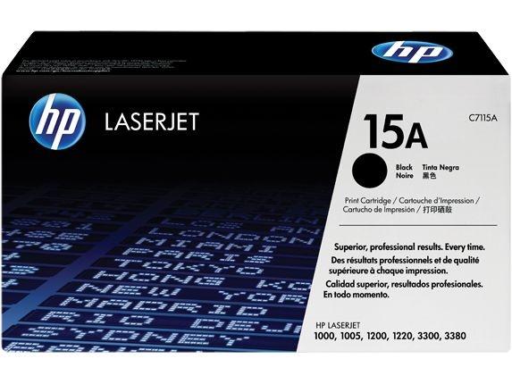 Cartucho de toner LaserJet preto HP 15A original C7115A