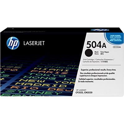 Cartucho toner HP 504A Black 5k CE250A CX 1 UN
