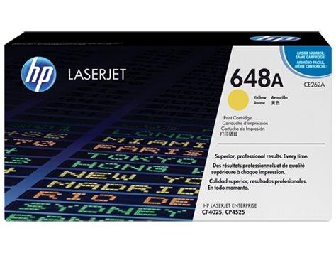 Cartucho de Toner HP LaserJet 648A Amarelo CE262A Original