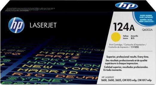 Toner HP Original 2605 Amarelo - Q6002A HP 124A