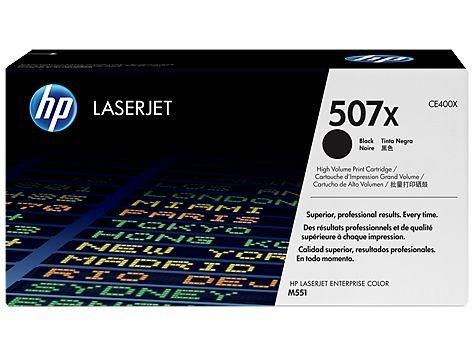 Cartucho de toner LaserJet preto de alto rendimento HP 507X Original CE400X