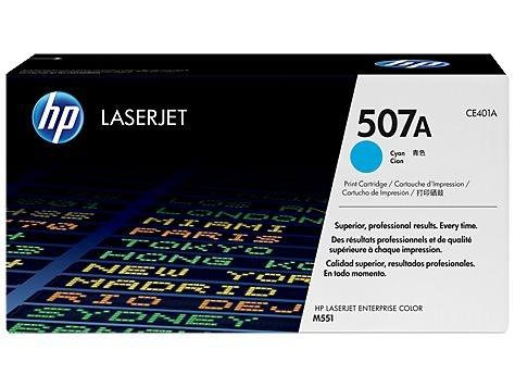 Cartucho de toner LaserJet HP 507A Ciano CE401A / CE401AC Original