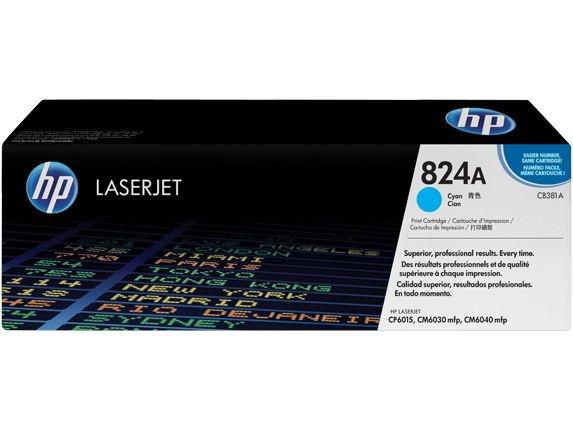 *Cartucho de toner LaserJet ciano HP 824A original (CB381A)