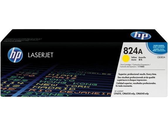 Cartucho de toner LaserJet amarelo HP 824A original (CB382A)