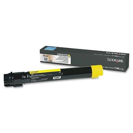 Toner Lexmark C950 C950X2YG C950 Amarelo Original