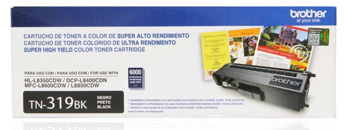 Cartucho de Toner Brother Preto TN319BK Original