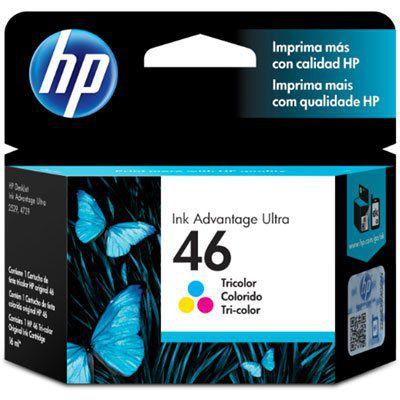 Cartucho HP 46 Colorido 16ml CZ638AL Original