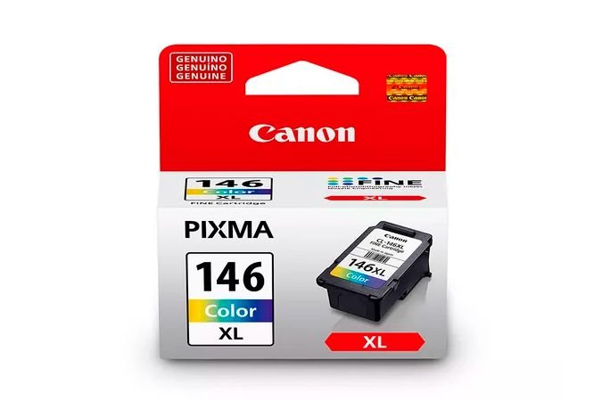 Cartucho Canon CL 146XL Colorido Original com 13ml