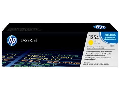 Cartucho toner HP 125A laserjet yellow CB542A Original