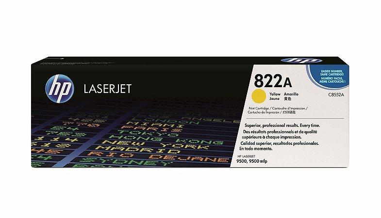 Cartucho de toner LaserJet amarelo HP 822A original (C8552A)