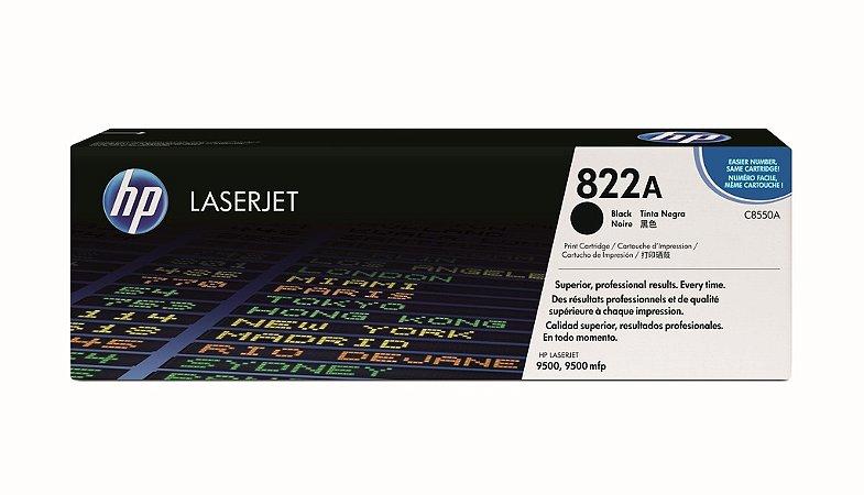Cartucho de Toner HP LaserJet 822A Preto C8550A Original