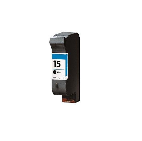 Cartucho de Tinta HP 15 - C6615D - Preto - Mecsupri