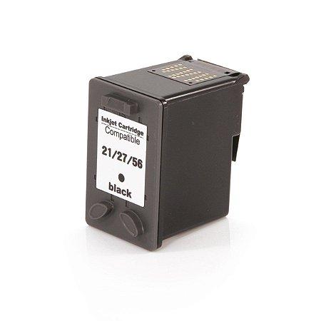 Cartucho de Tinta Mecsupri Compatível com HP 56 Preto C6656AB