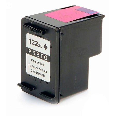 Cartucho de Tinta Mecsupri Compatível com HP 122XL Preto CH563HB