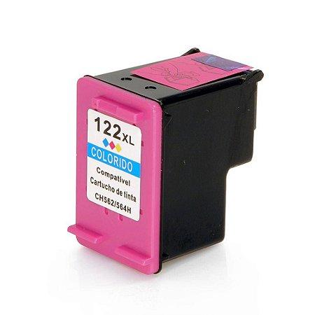 Cartucho de Tinta HP 122XL - CH564HB  - Colorido - Mecsupri