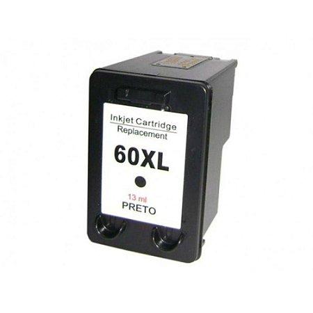Cartucho de Tinta Compativel com HP 60 XL - Preto - CC641WB - Mecsupri