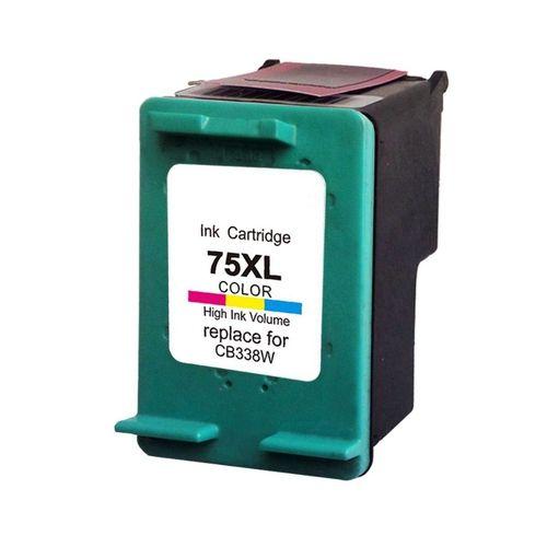 Cartucho de Tinta Mecsupri Compatível com HP 75XL CB337W Colorido