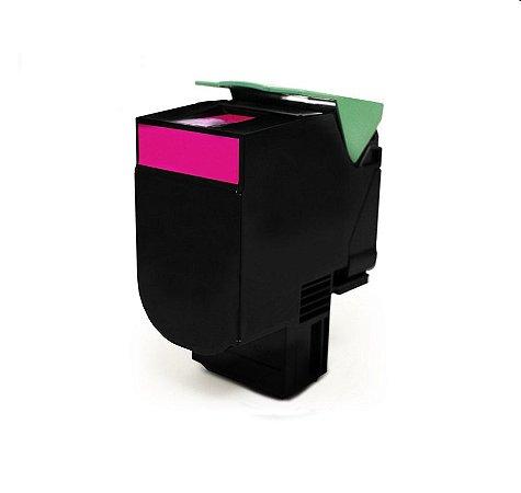 Cartucho de Toner Mecsupri Compatível com Lexmark C540 Magenta C540A1MG