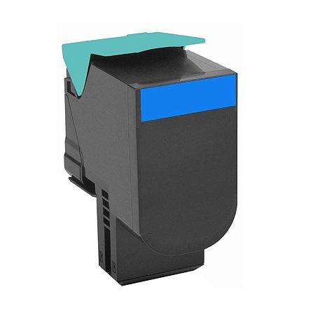 Cartucho de Toner Mecsupri Compatível com Lexmark C540 Ciano C540H1CG
