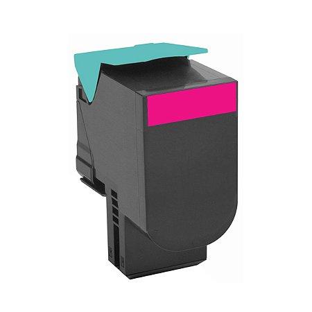 Cartucho de Toner Mecsupri Compatível com Lexmark C540 Magenta C540H1MG