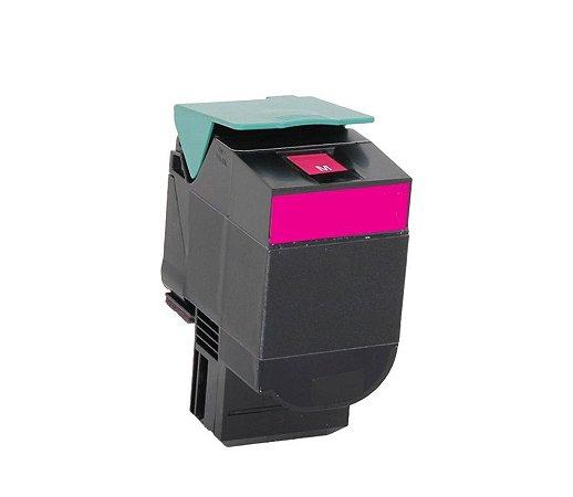 Cartucho de Toner Mecsupri Compatível com Lexmark C544 Magenta C544X1MG