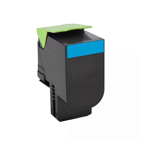 Cartucho de Toner Mecsupri Compatível com Lexmark C544 Ciano C544X1CG