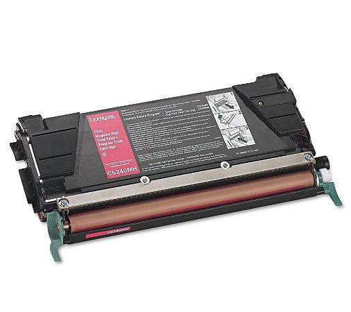 Cartucho de Toner Mecsupri Compatível com Lexmark C524 Magenta C5240MH