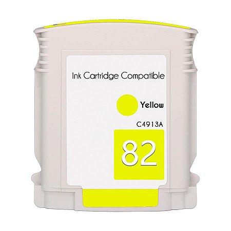 Cartucho de Tinta Mecsupri Compatível com HP 82 Amarelo C4913A