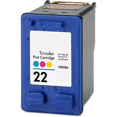 Compativel: Cartucho de Tinta HP 22 Colorido C9352AL Mecsupri
