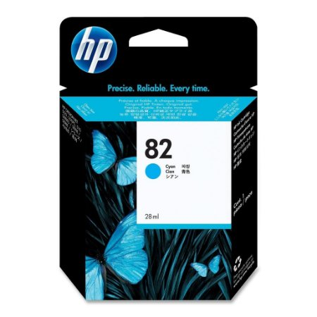 Cartucho de Plotter HP 82 Ciano CH566A 28 ml Original