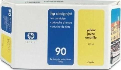 HP 90 Cartucho de Impressão a Jato de tinta Amarelo de 225 ml (C5064A)