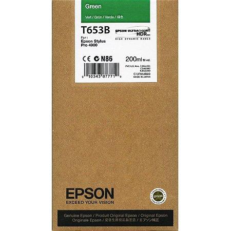 Cartucho Epson T653B Green p/ Stylus Pro 4900
