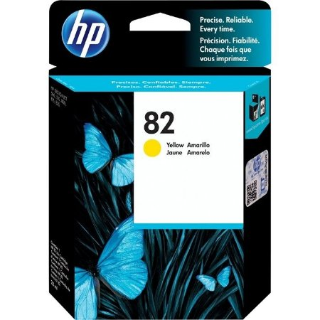 Cartucho HP 82 Amarelo 28 ml CH568A Original