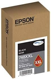 Tinta Epson Preta 748xxl Wf6590 Wf6090 Original