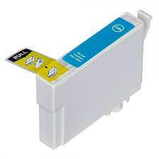 Cartucho de Tinta Mecsupri Compatível com Epson Ciano TO135 T1351 TX125 TX123 T25 Mecsupri