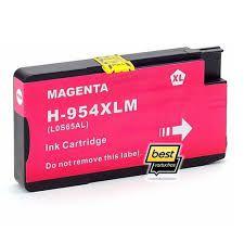 Cartucho de Tinta Mecsupri Compatível com HP 954XL Magenta L0S65AB 27ml