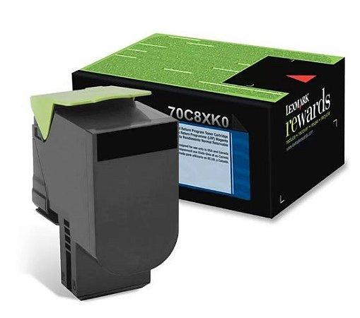 Cartucho de Toner Lexmark 708XK Preto 70C8XK0 / CS510DE Original