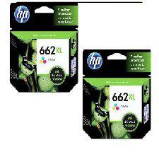 Kit com 2 Cartuchos HP 662XL Colorido Original (2xCZ106AB)