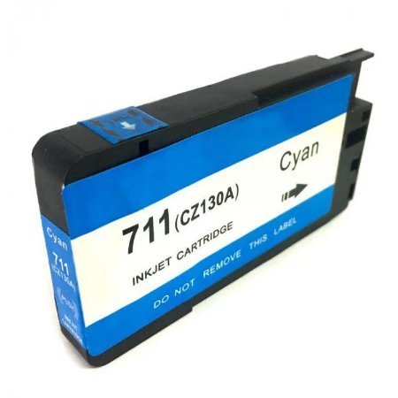 Cartucho de Tinta Mecsupri Compatível com HP 711 ciano CZ130AB