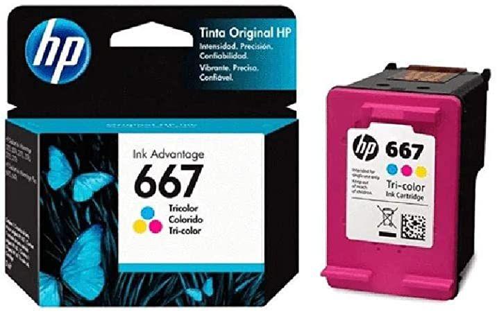 Cartucho de Tinta HP 667 Color 3YM78L 3YM78AL Original