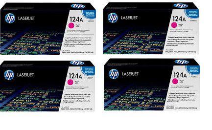 Kit Combo com 4 Toners HP124A Magenta Q6003A Original