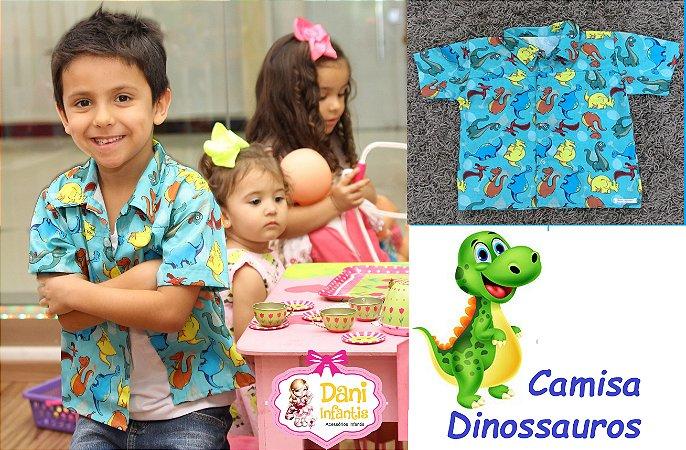 Camisa Dinossauro Azul