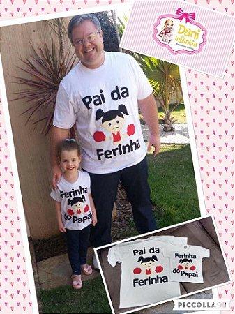 Camiseta Personalizada Pai e filha