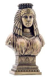 BUSTO RAINHA EGÍPCIA, BRONZEADO