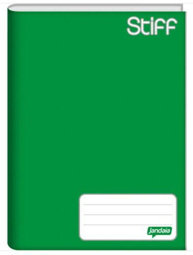 Caderno capa dura brochura universal - verde 96 folhas